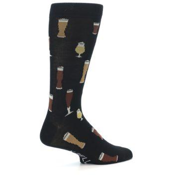 Image of Black Craft Beer Glass Men's Dress Socks (side-1-23)