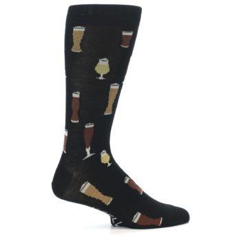 Image of Black Craft Beer Glass Men's Dress Socks (side-1-24)