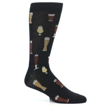 Image of Black Craft Beer Glass Men's Dress Socks (side-1-25)