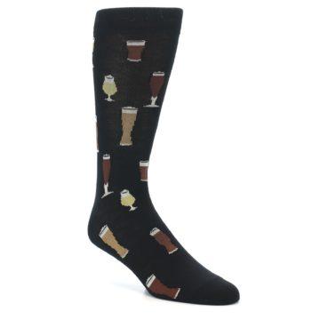 Image of Black Craft Beer Glass Men's Dress Socks (side-1-27)