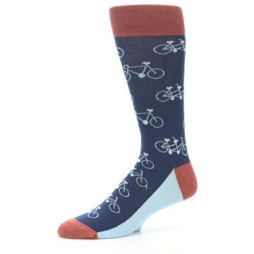 Image of Navy Marsala Tandem Bicycle Men's Dress Socks (side-2-10)