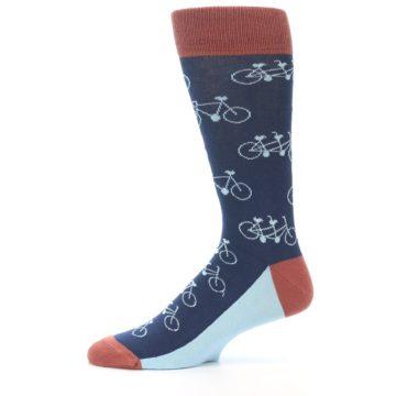 Image of Navy Marsala Tandem Bicycle Men's Dress Socks (side-2-11)