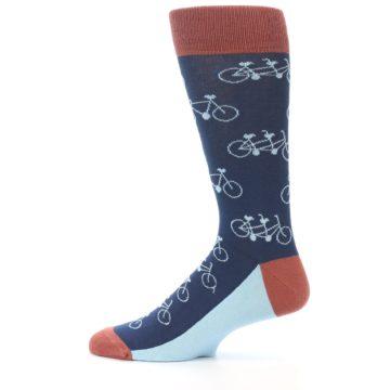 Image of Navy Marsala Tandem Bicycle Men's Dress Socks (side-2-12)