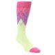 Image of Pistachio Pink Purple Argyle Men's Dress Socks (side-1-front-01)