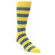 Image of Yellow Blue Stripe Men's Dress Socks (side-1-front-01)