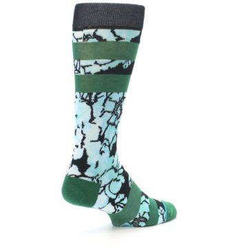 Image of Black Green Floral Men's Casual Socks (side-1-back-22)