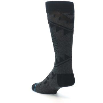 Image of Grey Black Patterned Men's Casual Socks (side-2-back-15)