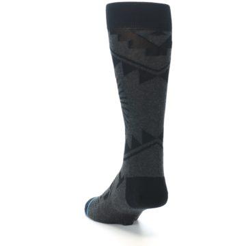 Image of Grey Black Patterned Men's Casual Socks (side-2-back-16)