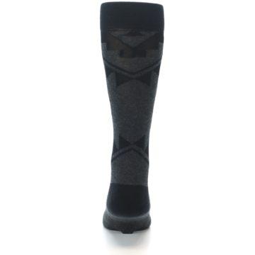 Image of Grey Black Patterned Men's Casual Socks (back-18)