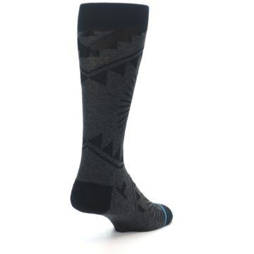 Image of Grey Black Patterned Men's Casual Socks (side-1-back-21)