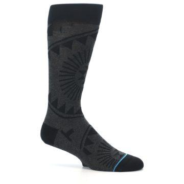 Image of Grey Black Patterned Men's Casual Socks (side-1-25)
