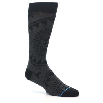 Image of Grey Black Patterned Men's Casual Socks (side-1-26)