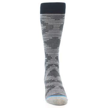 Image of Black White Diamonds Men's Casual Socks (front-04)