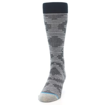 Image of Black White Diamonds Men's Casual Socks (side-2-front-06)