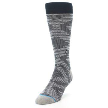Image of Black White Diamonds Men's Casual Socks (side-2-front-07)