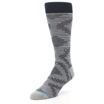 Image of Black White Diamonds Men's Casual Socks (side-2-front-08)
