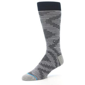Image of Black White Diamonds Men's Casual Socks (side-2-09)