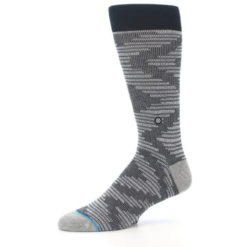 Image of Black White Diamonds Men's Casual Socks (side-2-10)