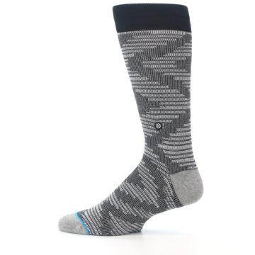 Image of Black White Diamonds Men's Casual Socks (side-2-12)