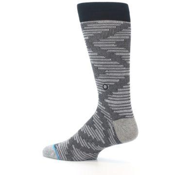 Image of Black White Diamonds Men's Casual Socks (side-2-13)