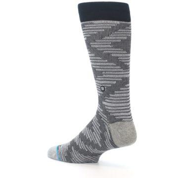 Image of Black White Diamonds Men's Casual Socks (side-2-back-14)