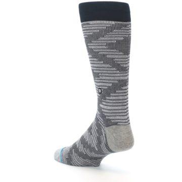 Image of Black White Diamonds Men's Casual Socks (side-2-back-15)