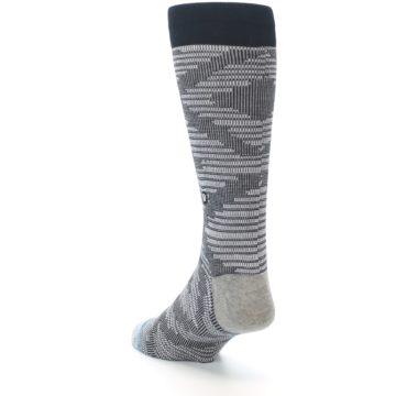 Image of Black White Diamonds Men's Casual Socks (side-2-back-16)
