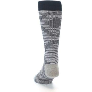 Image of Black White Diamonds Men's Casual Socks (back-17)