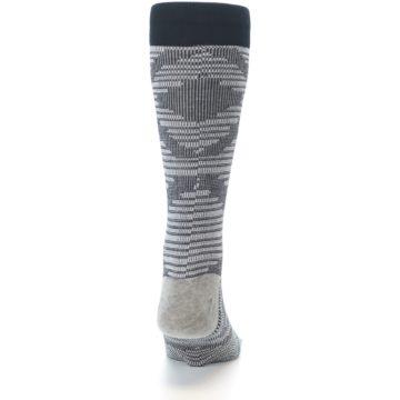 Image of Black White Diamonds Men's Casual Socks (back-19)
