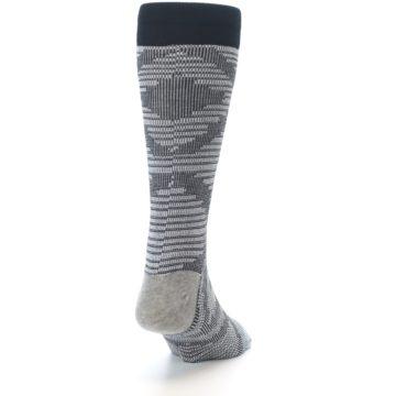 Image of Black White Diamonds Men's Casual Socks (side-1-back-20)