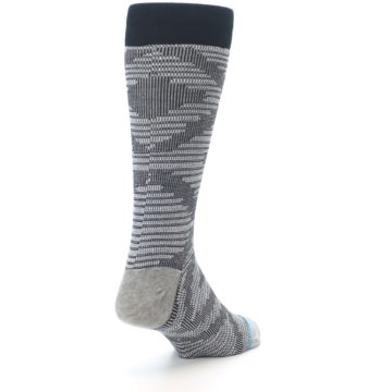Image of Black White Diamonds Men's Casual Socks (side-1-back-21)