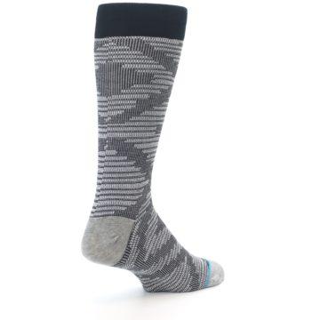 Image of Black White Diamonds Men's Casual Socks (side-1-back-22)