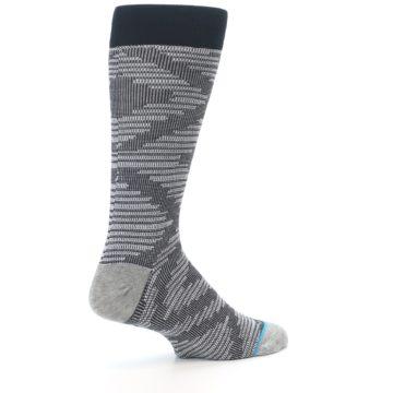 Image of Black White Diamonds Men's Casual Socks (side-1-23)