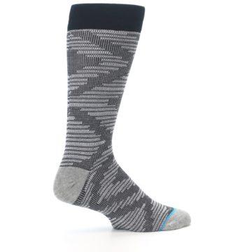 Image of Black White Diamonds Men's Casual Socks (side-1-24)
