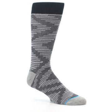 Image of Black White Diamonds Men's Casual Socks (side-1-26)