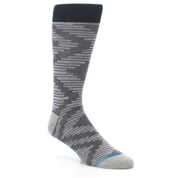 Image of Black White Diamonds Men's Casual Socks (side-1-27)