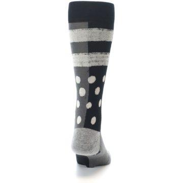Image of Black White Grey Polka Dot Men's Casual Socks (back-19)