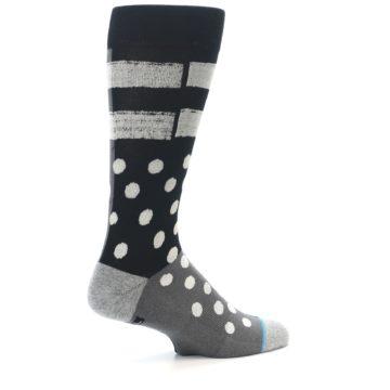Image of Black White Grey Polka Dot Men's Casual Socks (side-1-23)