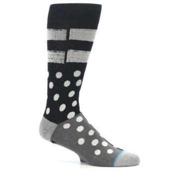Image of Black White Grey Polka Dot Men's Casual Socks (side-1-25)