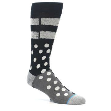 Image of Black White Grey Polka Dot Men's Casual Socks (side-1-26)