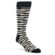 Image of Black and White Barbwire Stripe Men's Dress Socks (side-1-front-01)