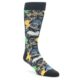 Image of Charcoal Multi Color Paisley Men's Dress Socks (side-1-front-01)