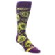 Image of Purple Yellow Black Paisley Men's Dress Socks (side-1-front-01)