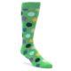 Image of Green Multi Color Polka Dot Men's Dress Socks (side-1-front-01)