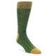 Image of Green Yellow Wool Blend Men's Dress Socks (side-1-front-01)
