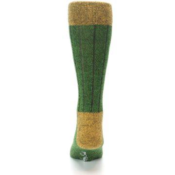 Image of Green Yellow Wool Blend Men's Dress Socks (back-18)