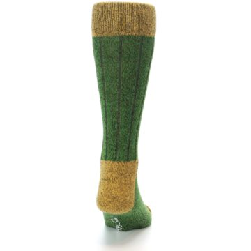 Image of Green Yellow Wool Blend Men's Dress Socks (back-19)