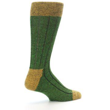Image of Green Yellow Wool Blend Men's Dress Socks (side-1-23)