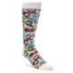 Image of White Black Multi Color Paisley Men's Dress Socks (side-1-front-01)