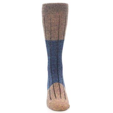 Image of Blue Multi Color Wool Blend Men's Dress Socks (front-04)